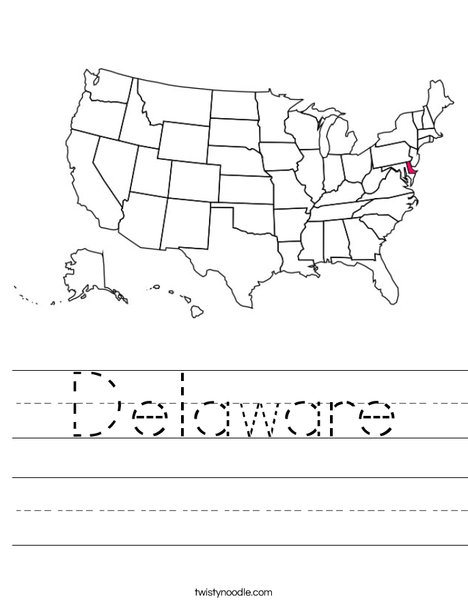 Delaware Worksheet