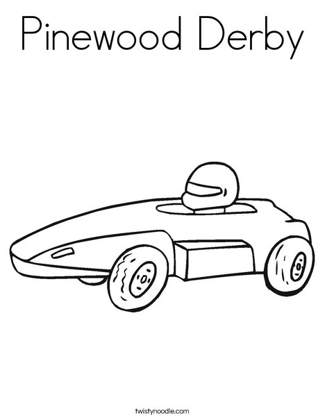 Pinewood Derby Coloring Page Twisty Noodle