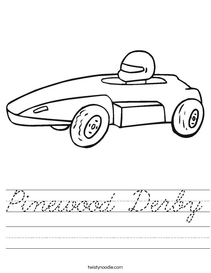 Pinewood Derby Worksheet