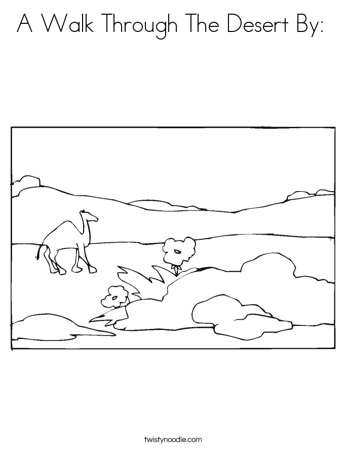 A Walk Through The Desert By:  Coloring Page