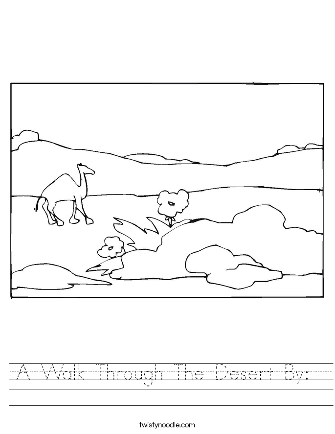 A Walk Through The Desert By:  Worksheet