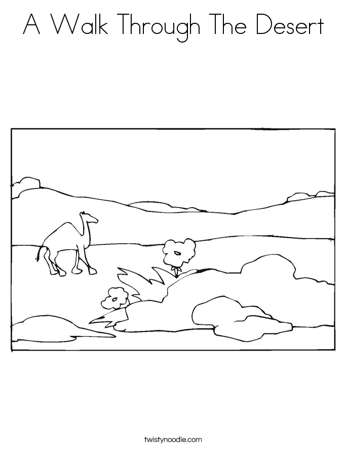 A Walk Through The Desert Coloring Page