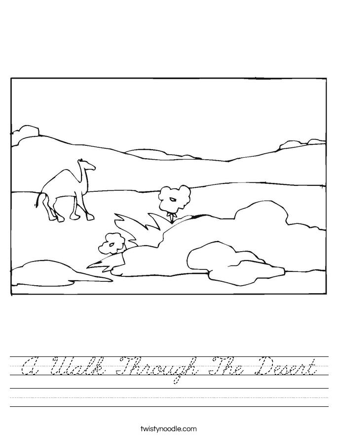 A Walk Through The Desert Worksheet