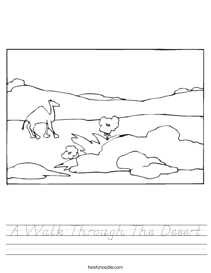 A Walk Through The Desert Worksheet