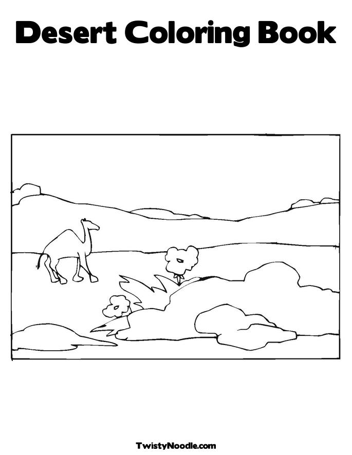 desert oasis coloring pages - photo#2
