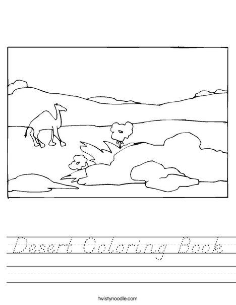 Desert Worksheet