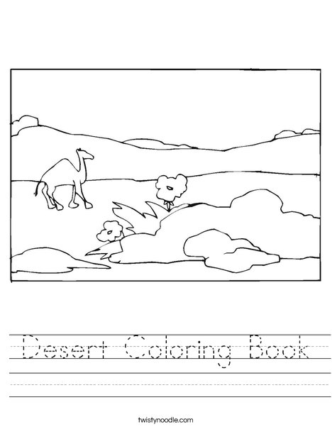 Desert Worksheet