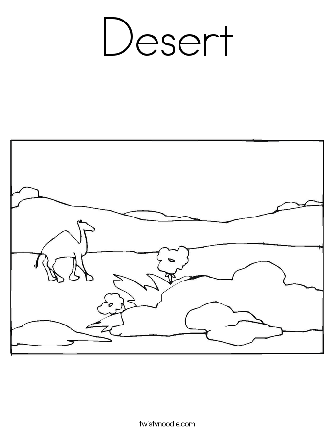 desert coloring pages for preschoolers - photo#1