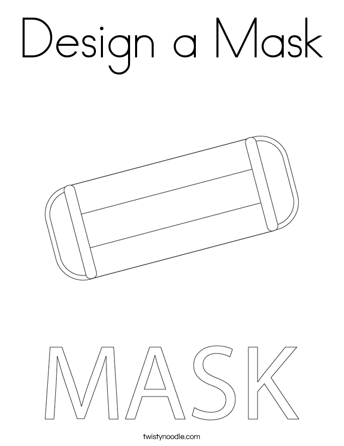 Design a Mask Coloring Page
