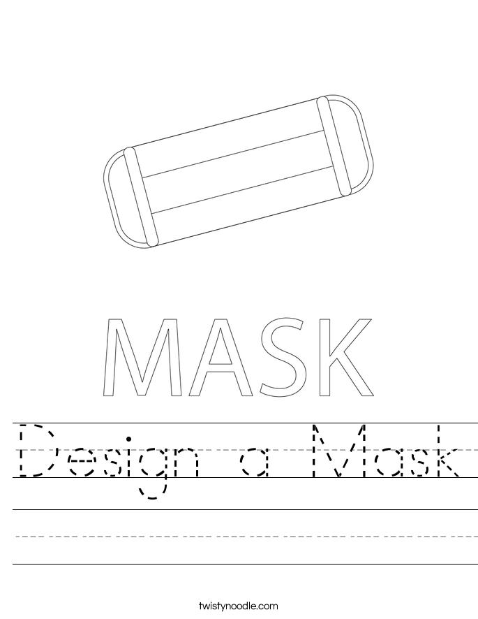 Design a Mask Worksheet