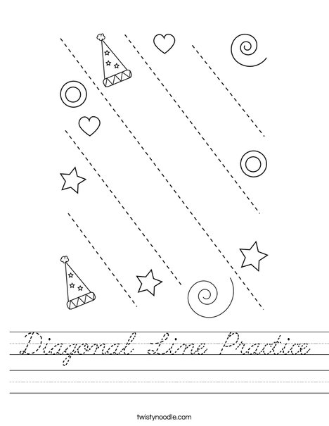 Diagonal Line Practice Worksheet