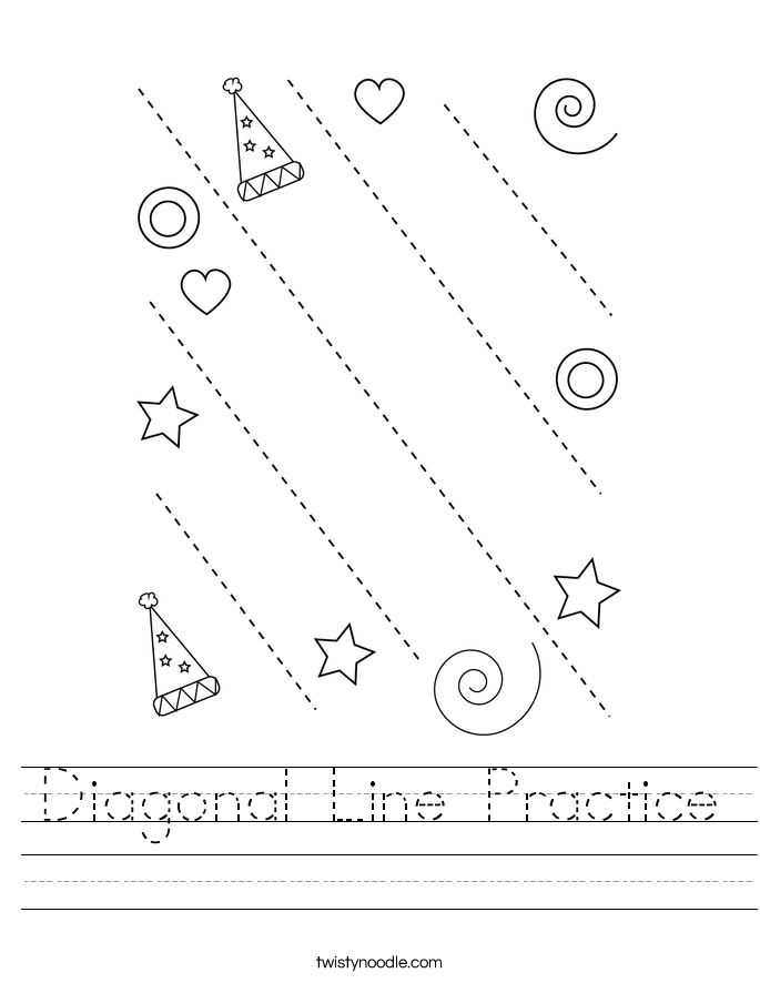 Diagonal Line Practice Worksheet