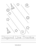 Diagonal Line Practice Handwriting Sheet