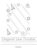 Diagonal Line Practice Handwriting Sheet