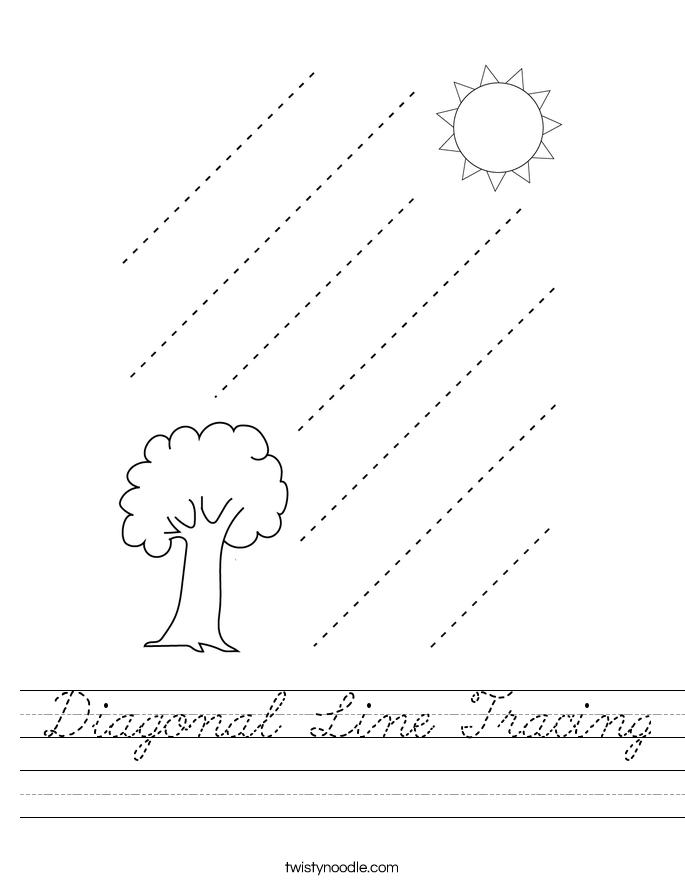 Diagonal Line Tracing Worksheet