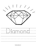 Diamond Handwriting Sheet