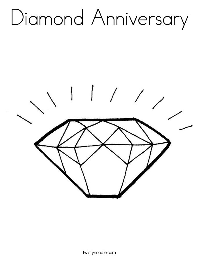 Diamond Anniversary Coloring Page