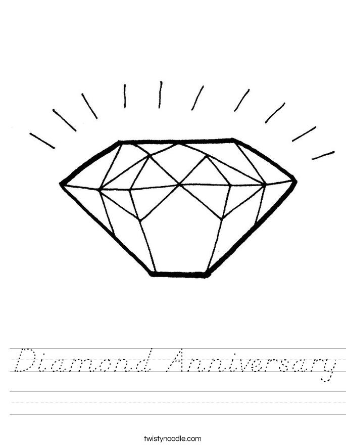 Diamond Anniversary Worksheet