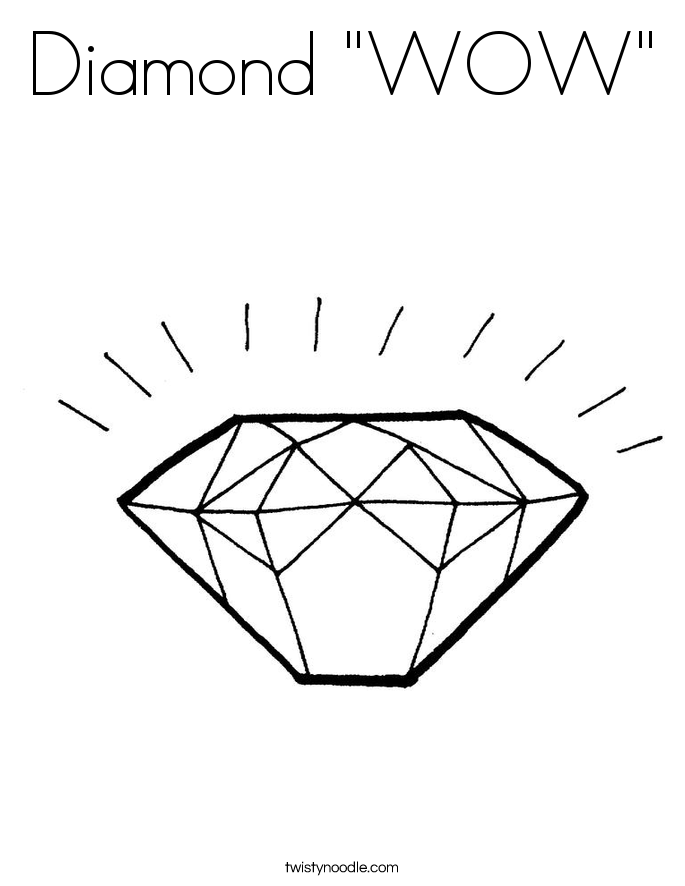 "Diamond ""WOW"" Coloring Page"