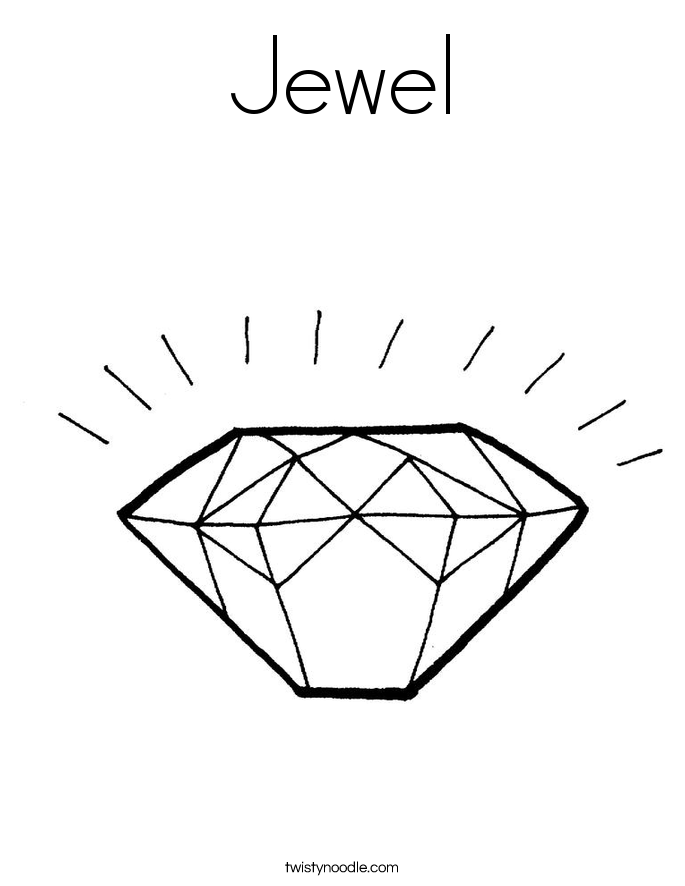 Jewel Coloring Page