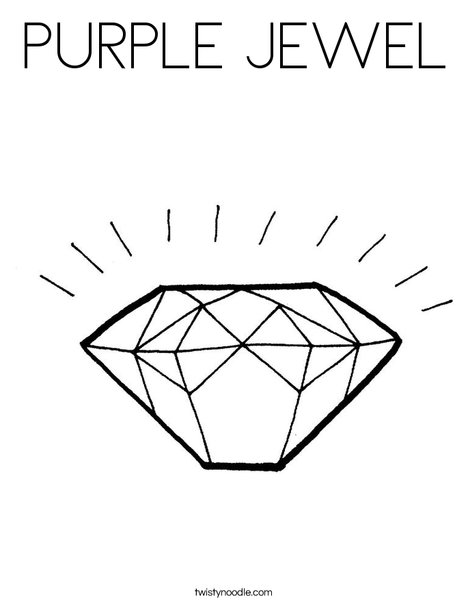 Diamond Coloring Page