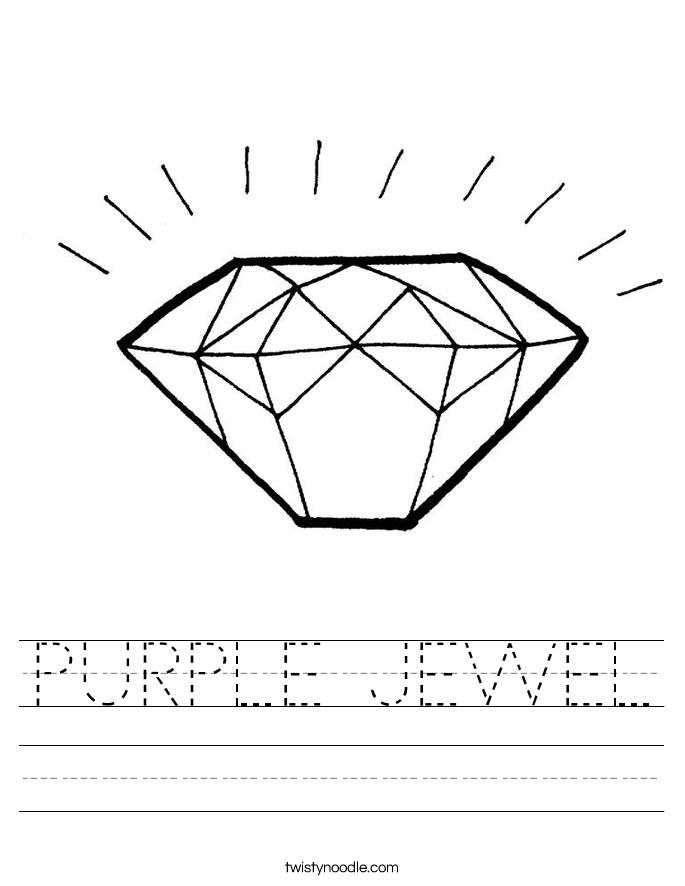 PURPLE JEWEL Worksheet