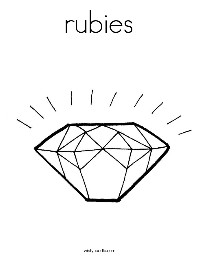 rubies Coloring Page