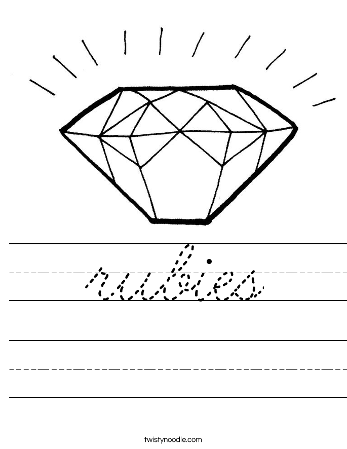 rubies Worksheet