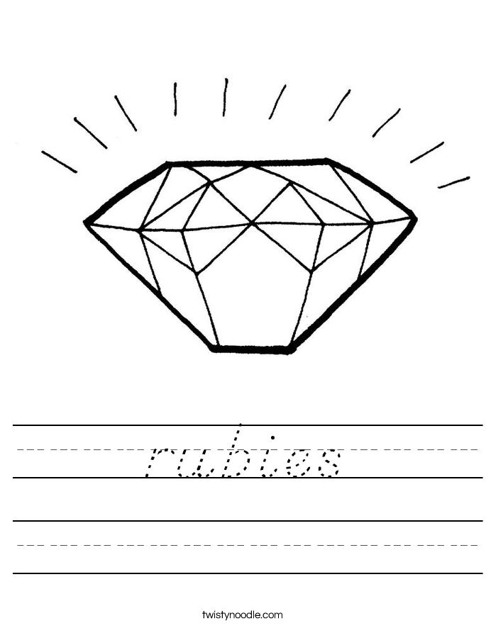 rubies Worksheet