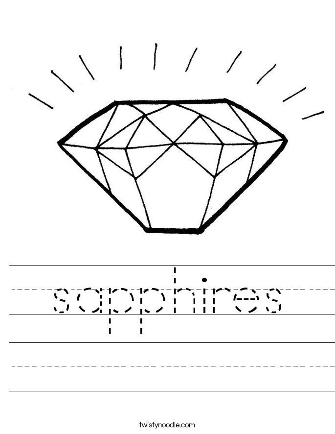 sapphires Worksheet