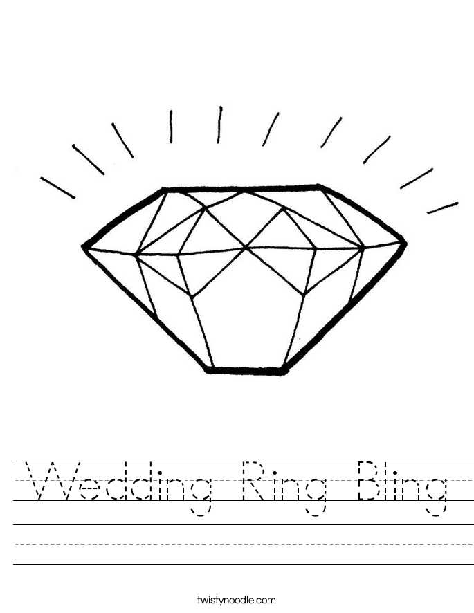 Wedding Ring Bling Worksheet