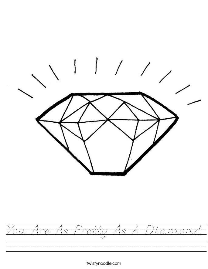 You Are As Pretty As A Diamond Worksheet