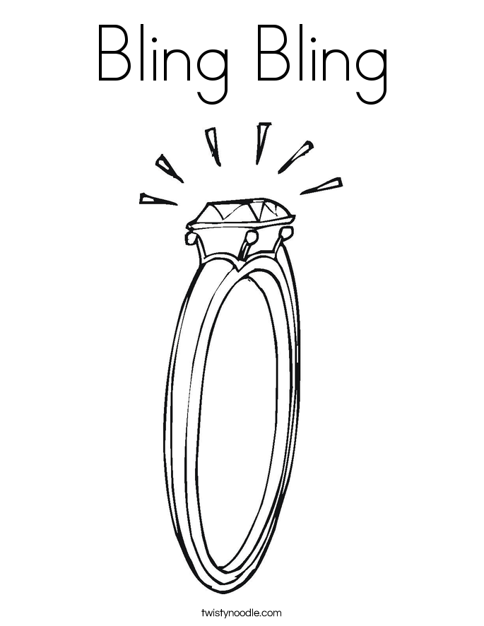 Bling Bling Coloring Page