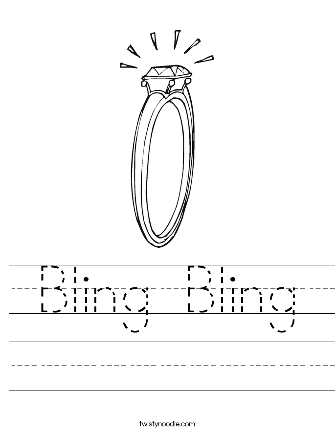 Bling Bling Worksheet
