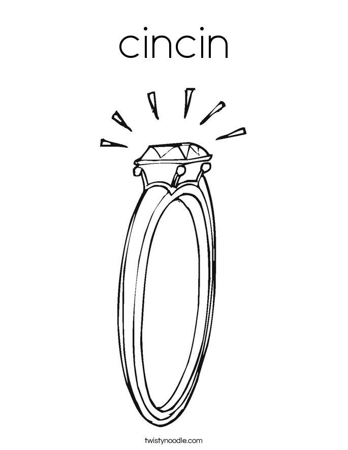 wedding ring coloring pages | cincin Coloring Page - Twisty Noodle