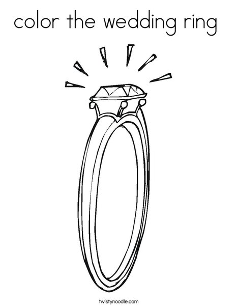 wedding ring coloring pages | color the wedding ring Coloring Page - Twisty Noodle
