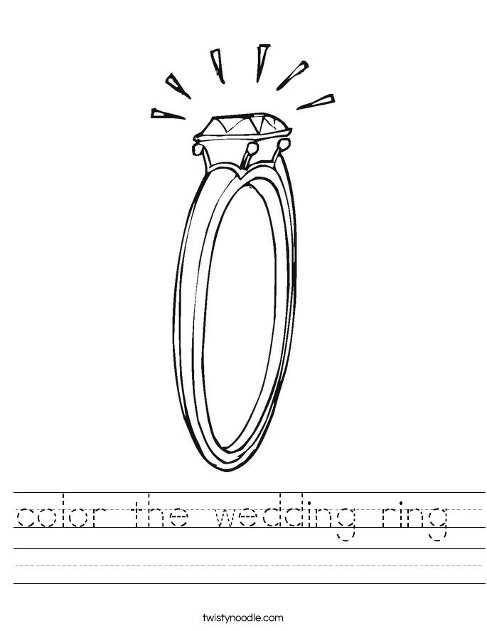 color the wedding ring  Worksheet