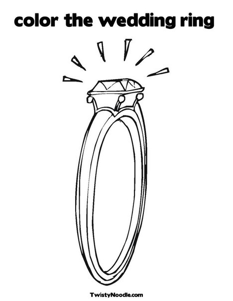 Diamond Ring Coloring Page A Beautiful Wedding Dresses Pages