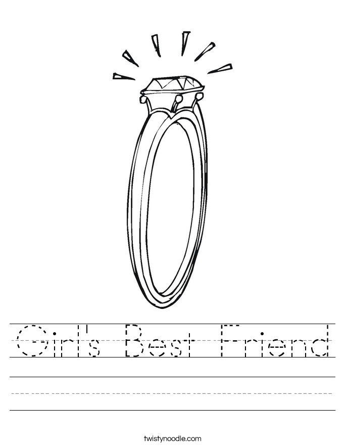 Girl's Best Friend Worksheet
