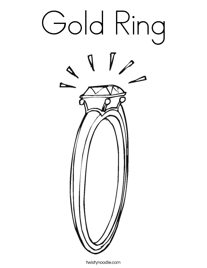Gold Ring Coloring Page
