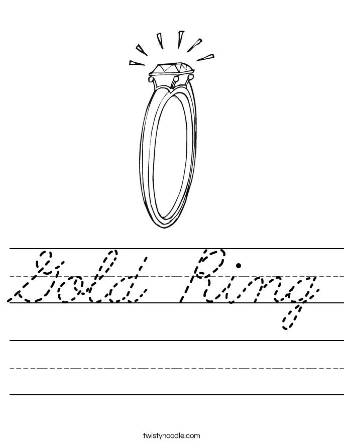 Gold Ring Worksheet