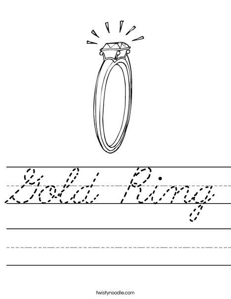 Diamond Engagement Ring Worksheet