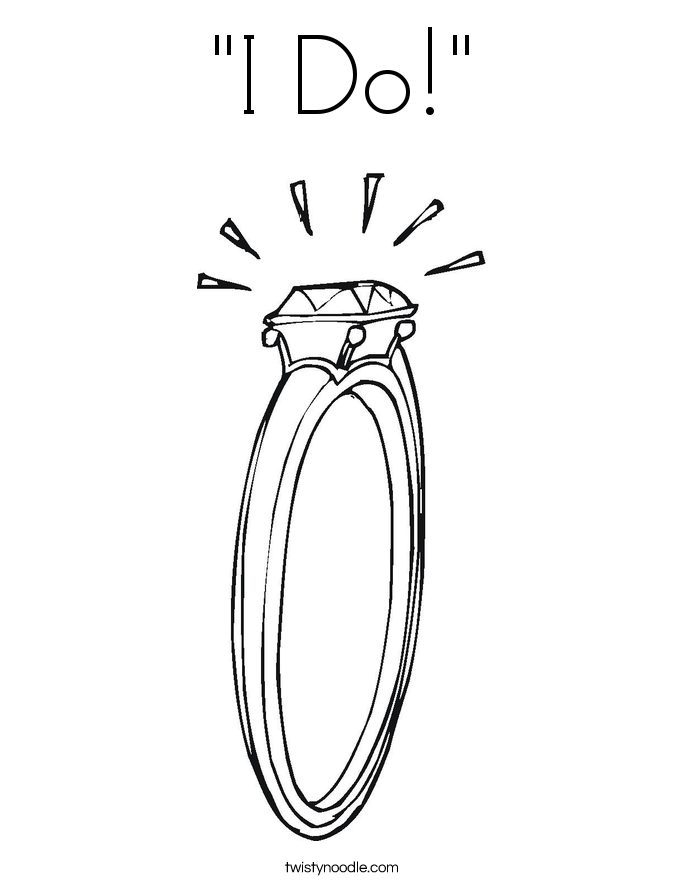 """I Do!"" Coloring Page"