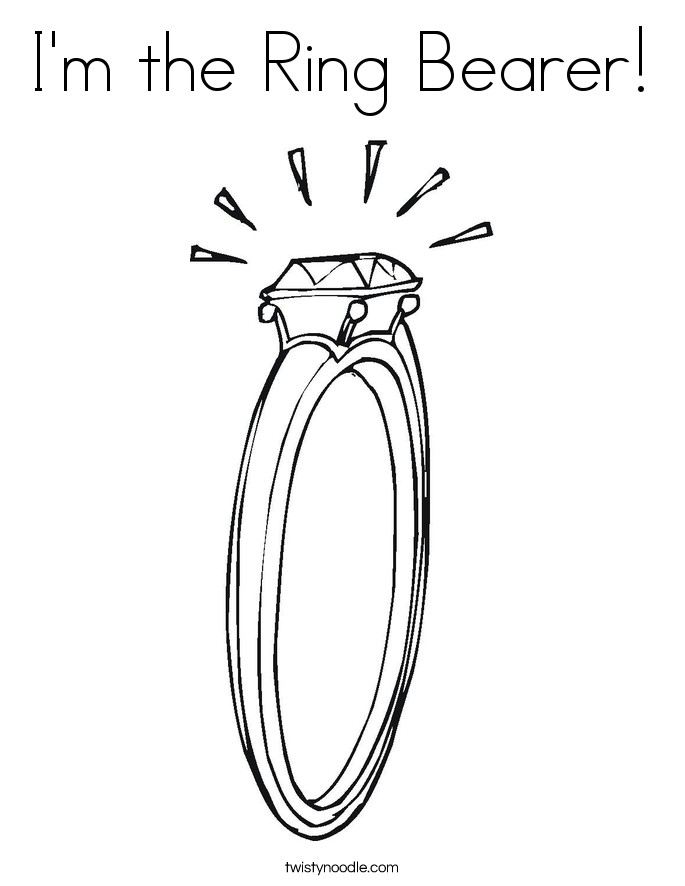 I'm the Ring Bearer! Coloring Page