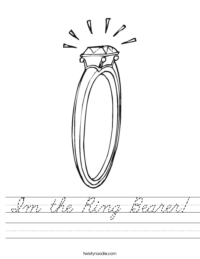 I'm the Ring Bearer! Worksheet