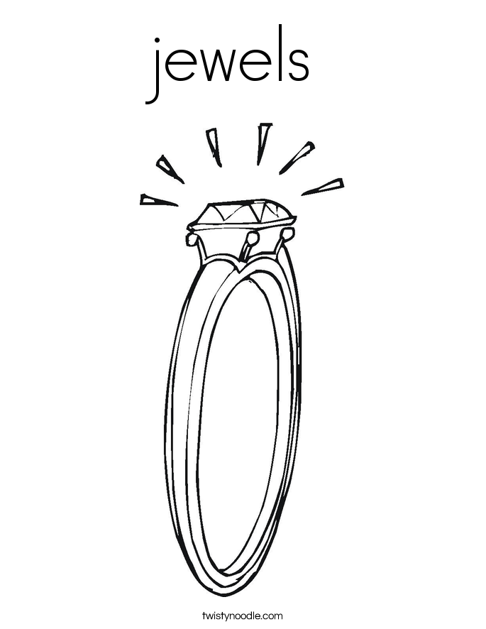 jewels Coloring Page
