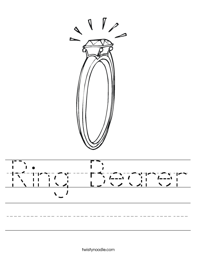 Ring Bearer Worksheet