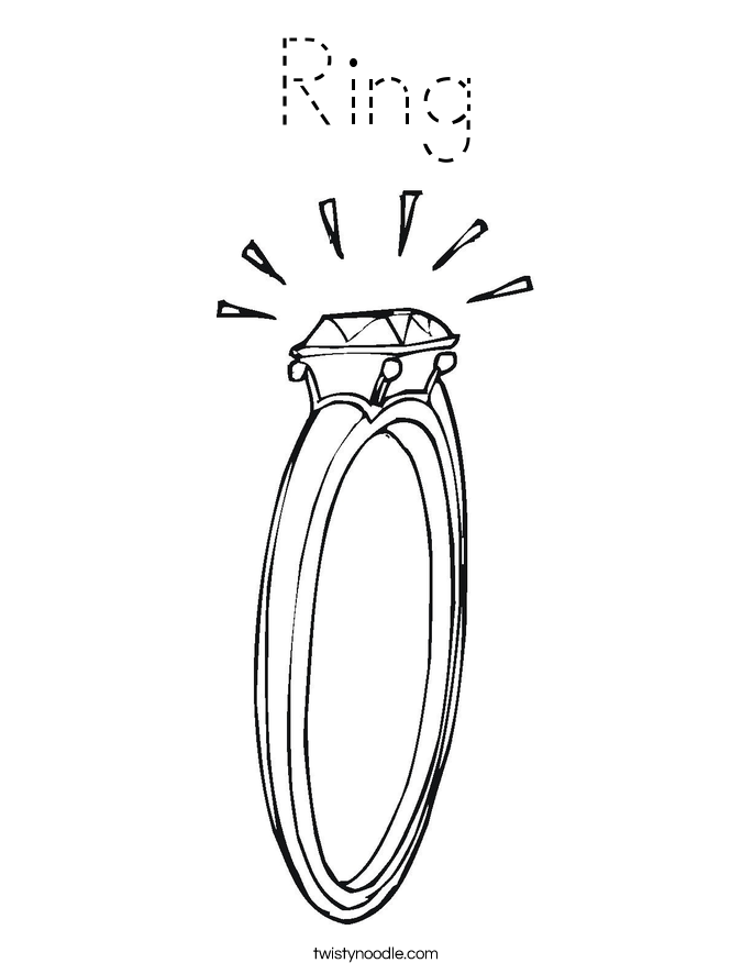 Ring Coloring Page