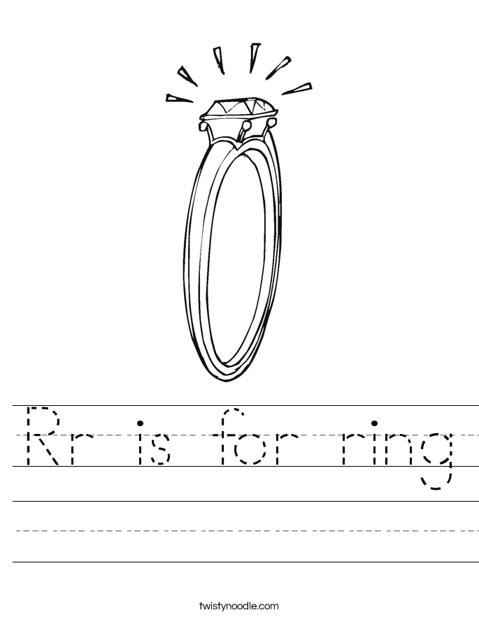 Rr is for ring Worksheet