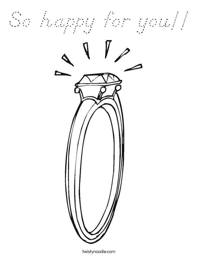 So happy for you!! Coloring Page